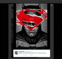 Le film Batman v Superman: Dawn of Justice se montre dans deux affiches