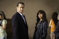 "Tom Hanks and Felicity Jones in ""Inferno"", which is based on a Dan Brown novel"