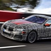 The BMW's 8 series has been launched at a French racing event