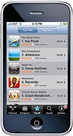 L'Ap Store d'Apple pour iPhone